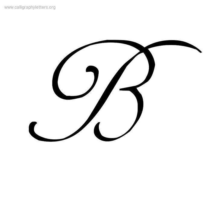 Calligraphy letter b clipart best