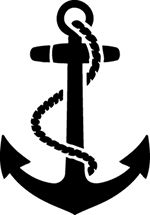 Navy Anchor Sticker, Military Stickers, 5492 - Car Stickers
