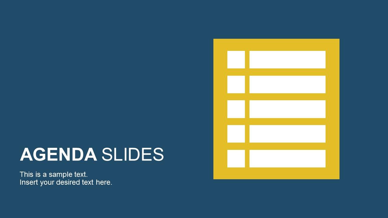 Presentation Agenda Slide Templates for PowerPoint