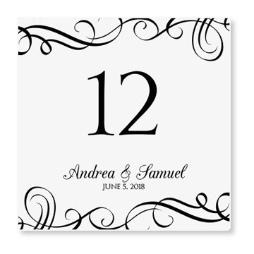 Wedding table numbers with pictures template wedding for Table numbers template for weddings