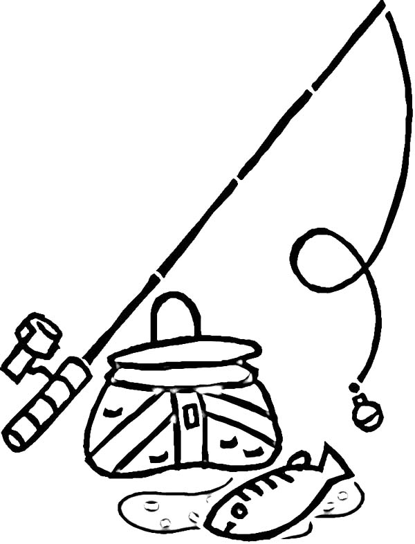 free fishing pole coloring pages - photo#2