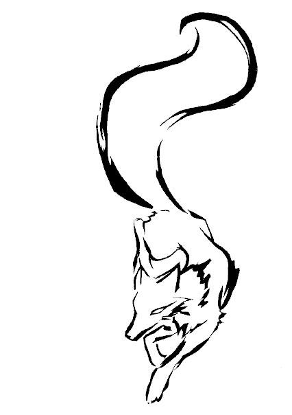Fox head outline - photo#13