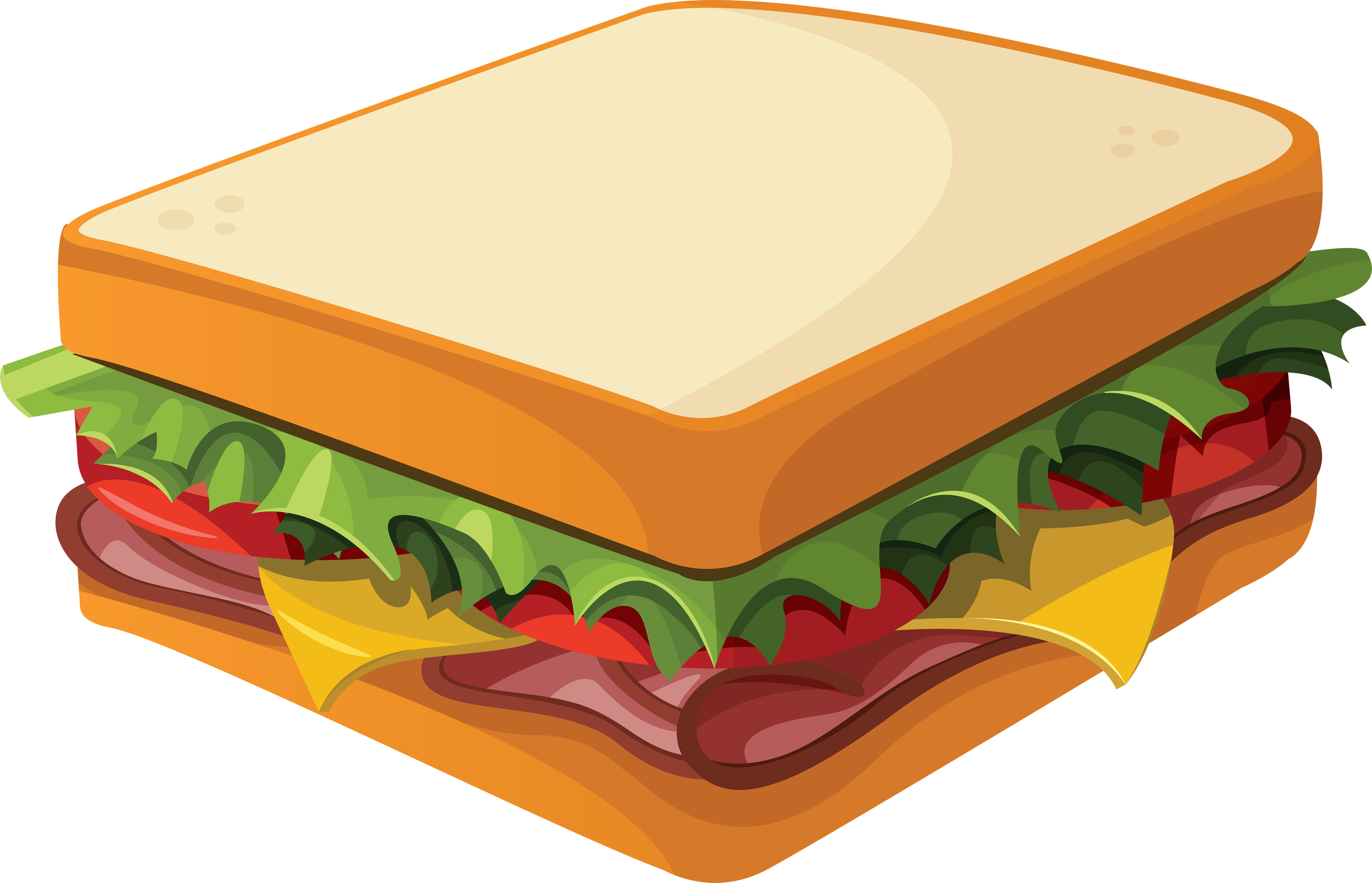 Cartoon Sub Sandwich Clipart - The Cliparts
