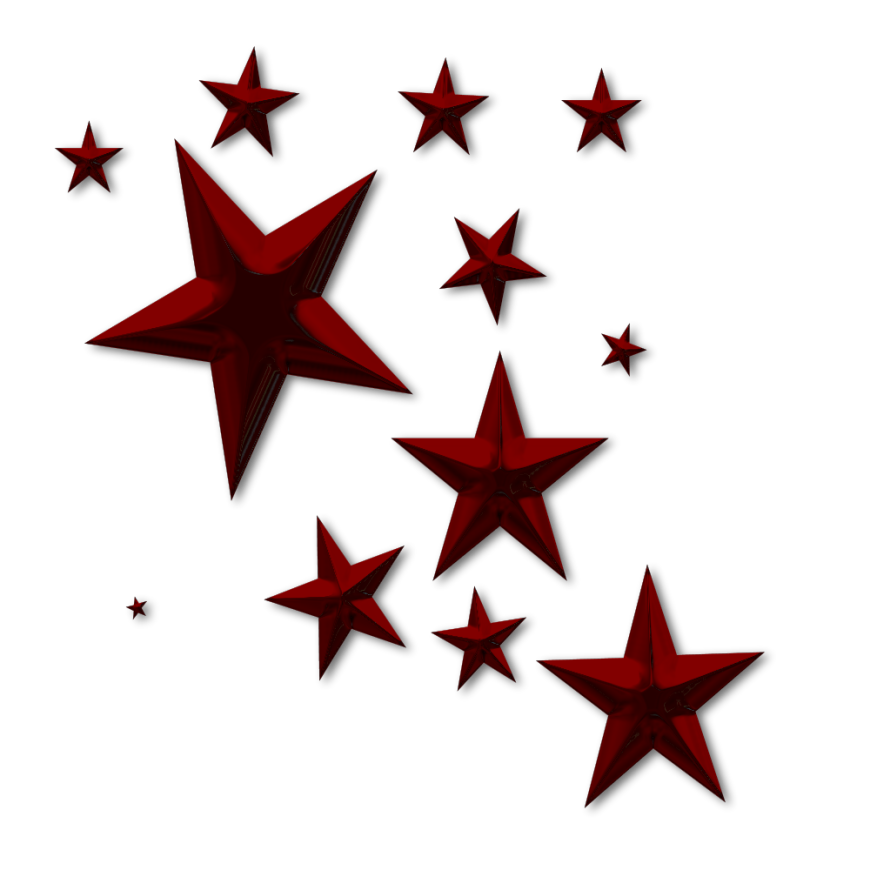 3d red star clipart