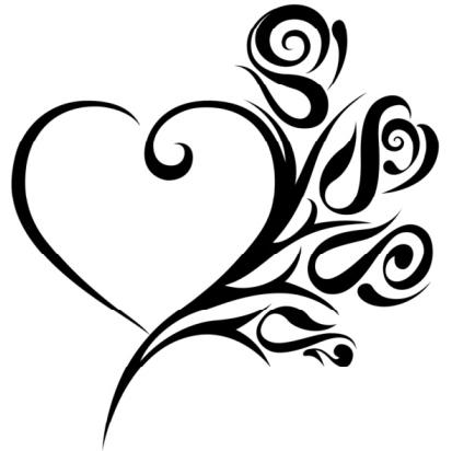 picture of heart tattoos clipart best. Black Bedroom Furniture Sets. Home Design Ideas