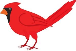 Cardinal Clipart Image - Red Cardinal Bird