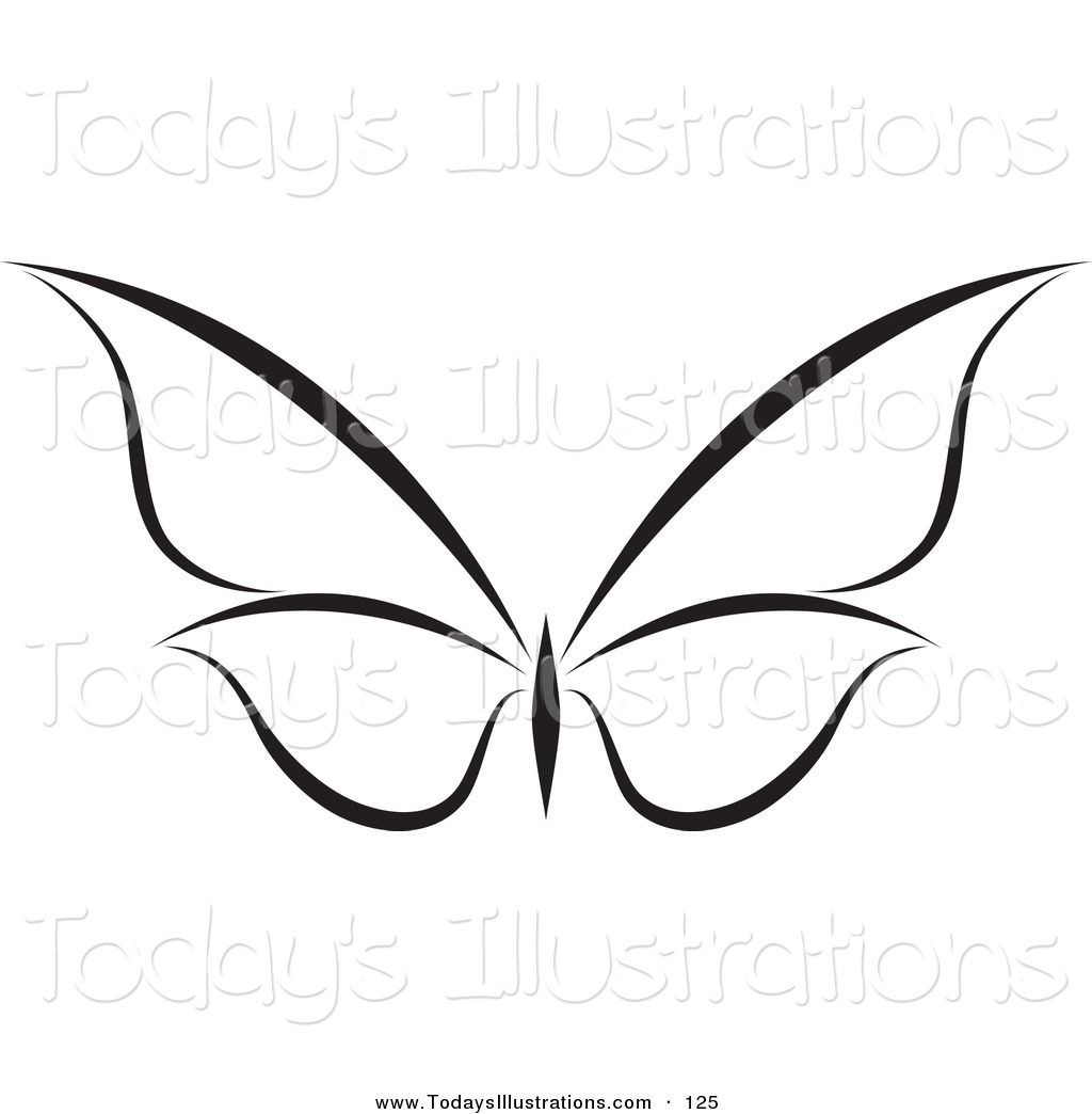 Black And White Butterfly Clipart | Kavalabeauty