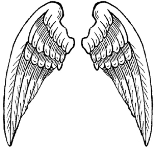 free angel wings coloring pages - photo#4