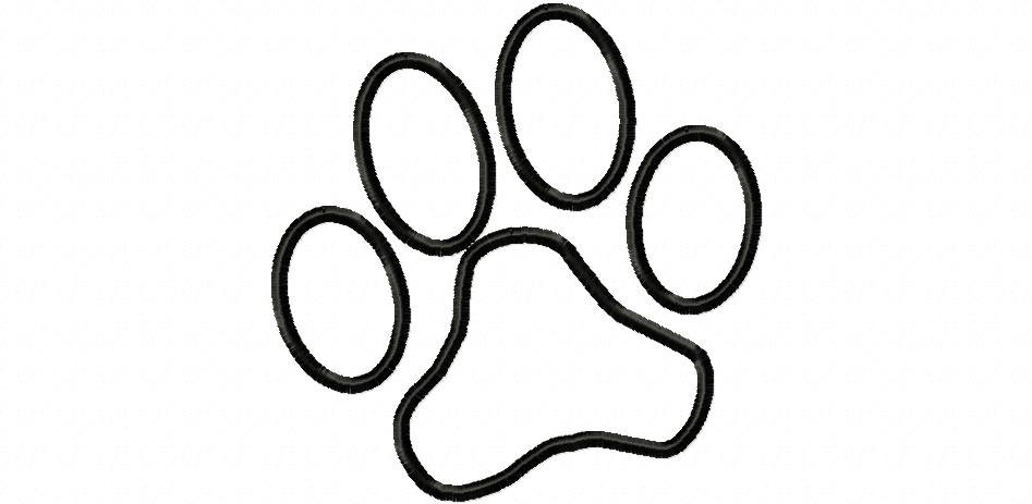 Outline of a paw print clipart best for Panther paw coloring page