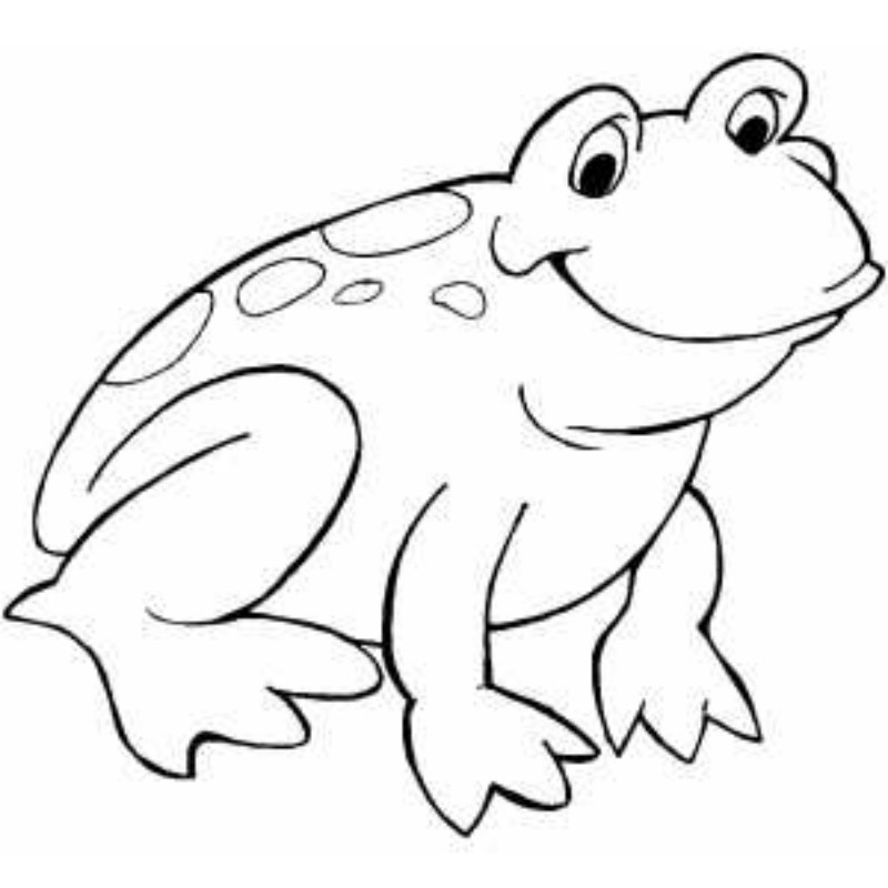 Beautiful Coloring Pages of Frogs Free for All frog coloring ...