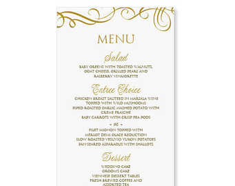 10 wedding menu template free download . Free cliparts that you can ...