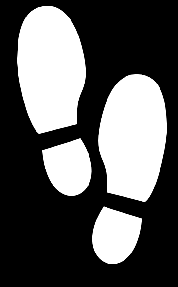 White Shoe Print clip art - vector clip art online, royalty free