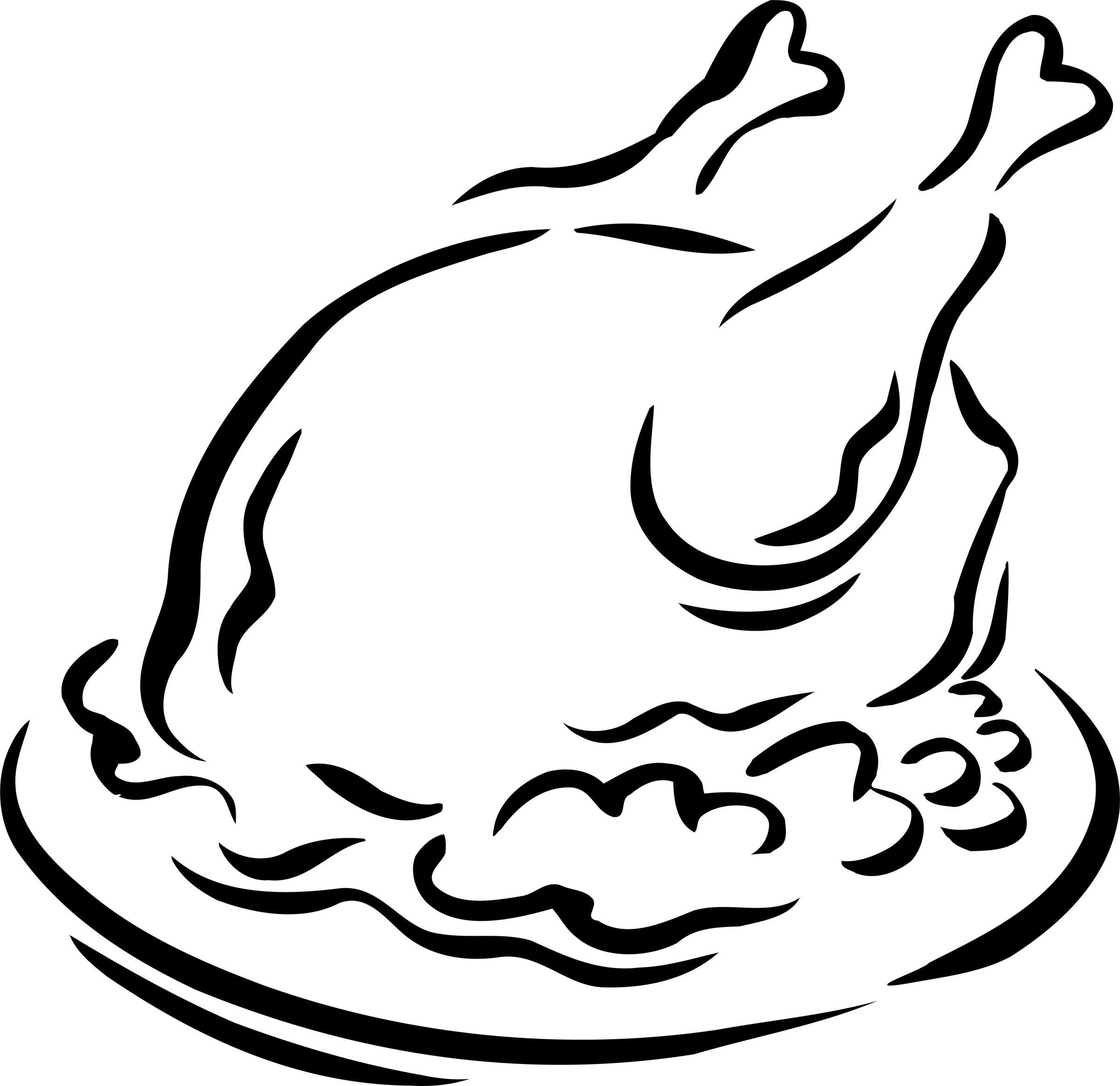 Roast chicken clipart black and white - photo#10