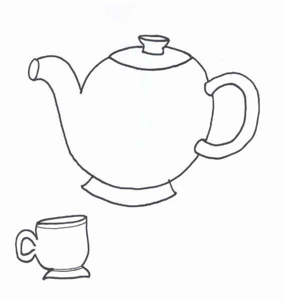 i am a little teapot coloring pages - photo #6