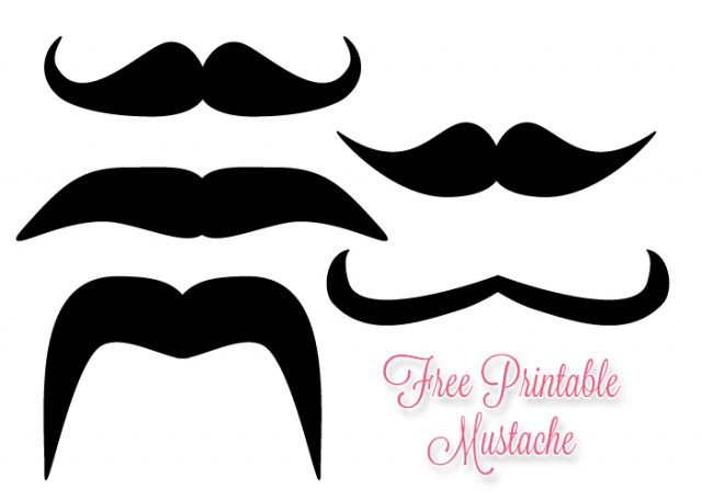 Mustache outline printable clipart best for Free printable mustache