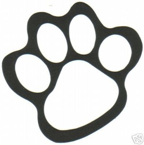 Galerry coloring pages of tiger paw prints