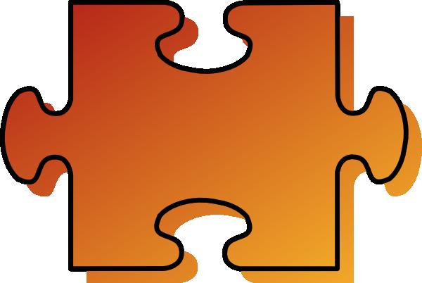 Jigsaw Puzzle Piece Clipart Jigsaw Orange Puzzle Piece