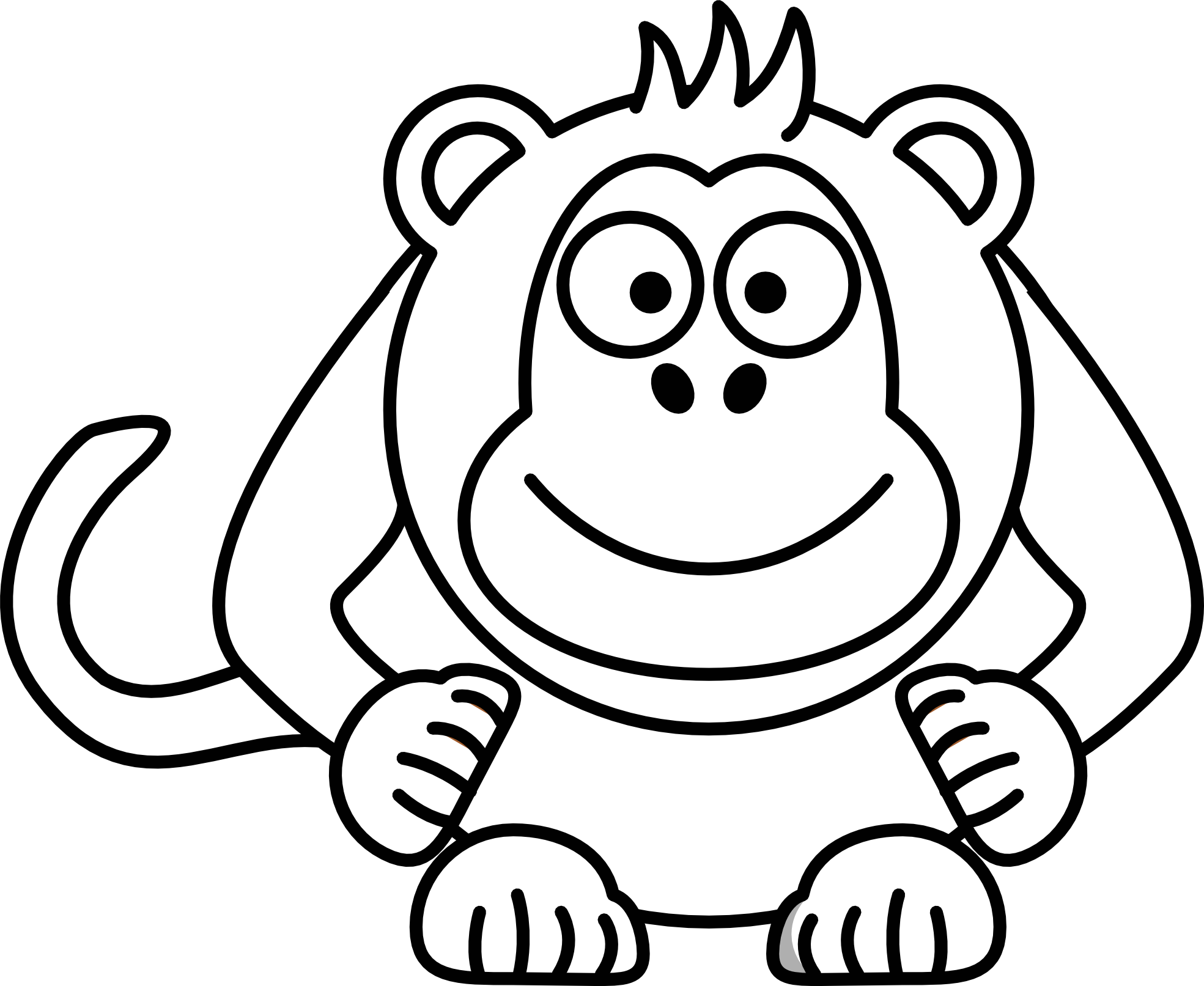 Line Drawing Monkey : Cartoon monkey drawings clipart best