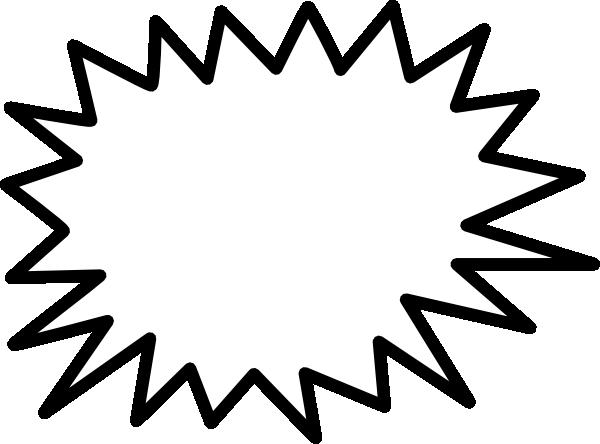 Callout Jagged Sunburst clip art - vector clip art online, royalty ...