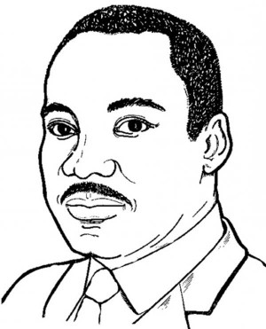 Martin Luther King Jr on Silhouette Coloring Page - Free ...