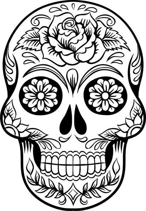 Line Drawing Skull : Skull line drawings clipart best