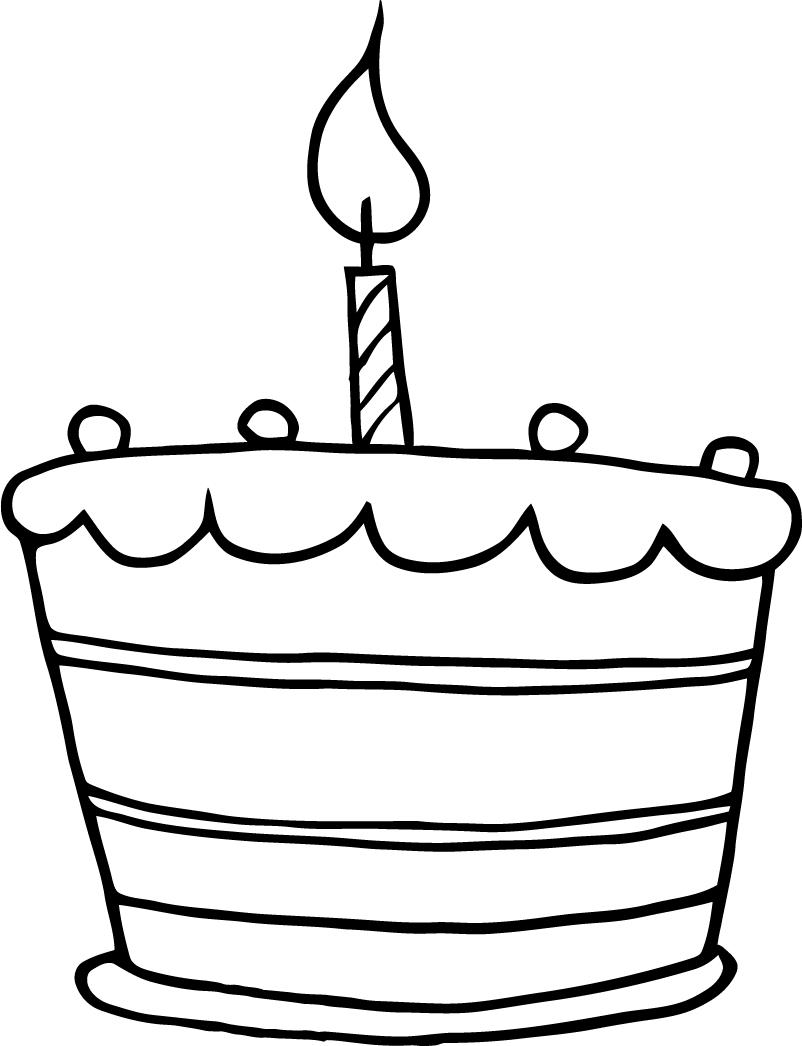 Cake Designs Clip Art : Birthday Cake Outline - ClipArt Best