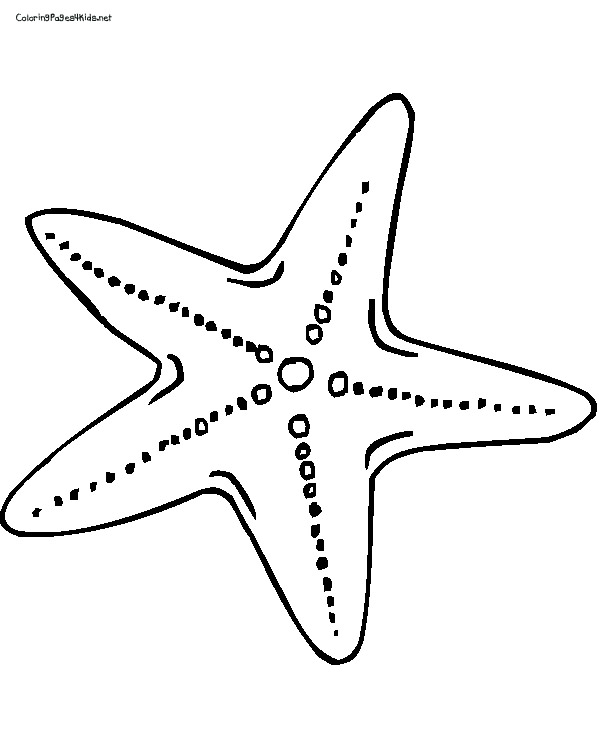 starfish coloring pages preschool kids - photo#9