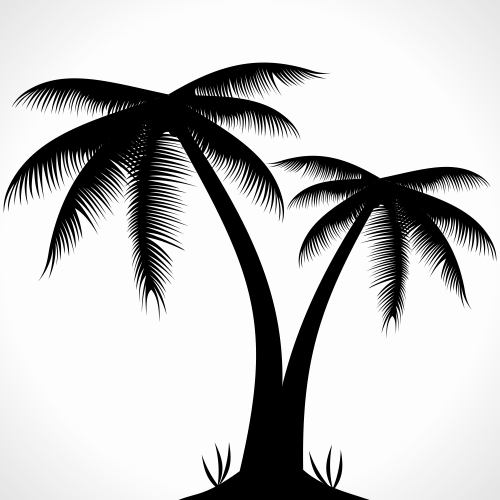 Black Cartoon Palm Tree 13 Cartoon Palm Tree Clip Art
