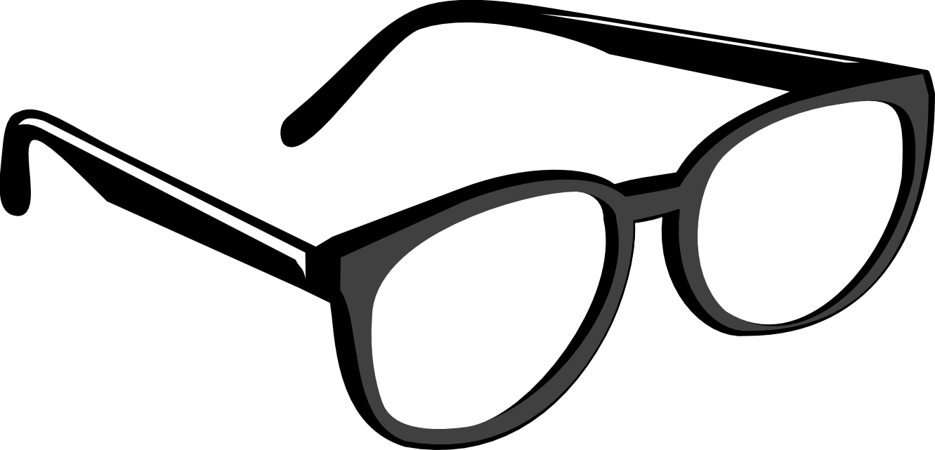 Glasses Frame Black And White : Nerd Glasses Png - ClipArt Best