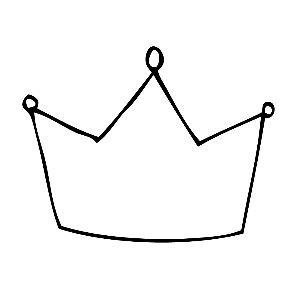 Line Art Crown : Draw crown clipart best