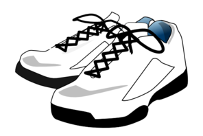 Tennis Shoes Clipart Black And White  Cli 1370
