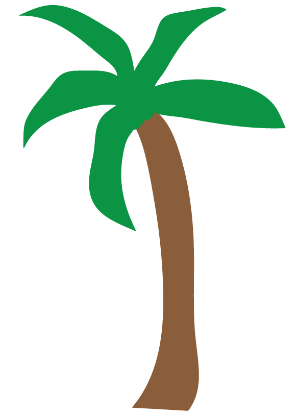 Palm Tree Beach Cartoon Cartoon Palm Tree Clip Art