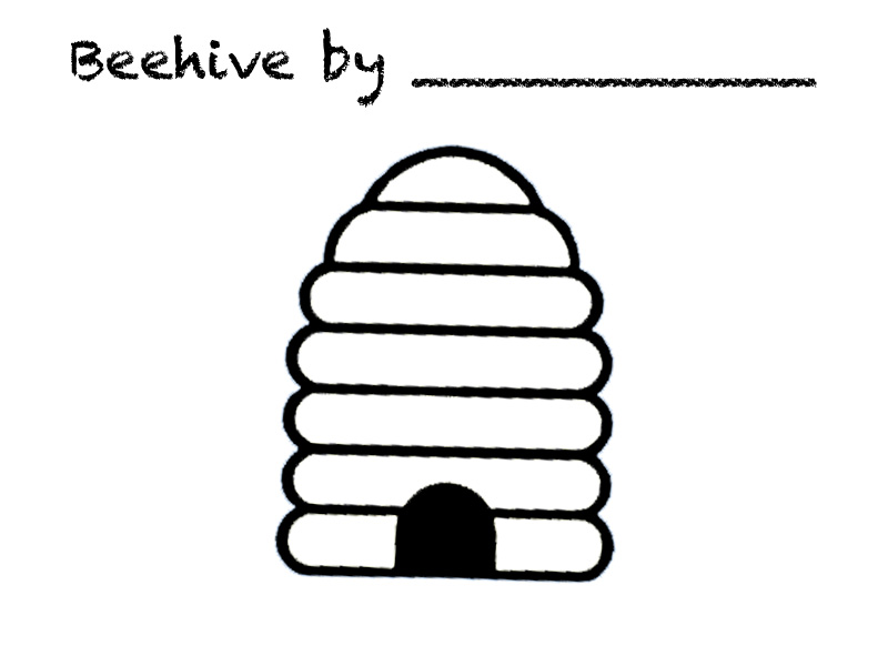 bee hive coloring page clipart best