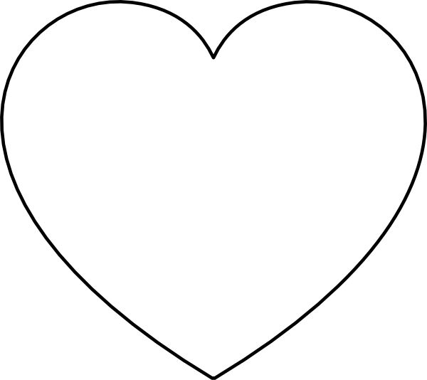 Blank heart shape clipart best for Full page heart template