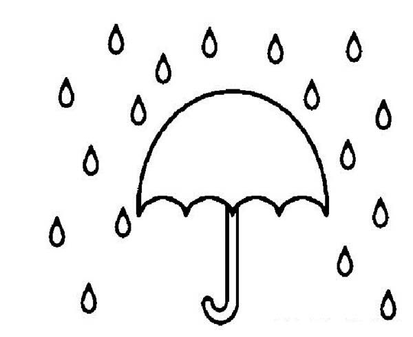 Rain Drop Coloring Page - ClipArt Best