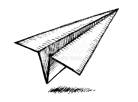 paper plane stock illustration - photo #23
