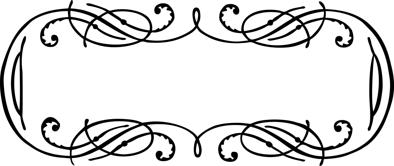 Vintage Calligraphy Border Frame Clip Art Vector Image | Oh So ... Vintage Border Vector