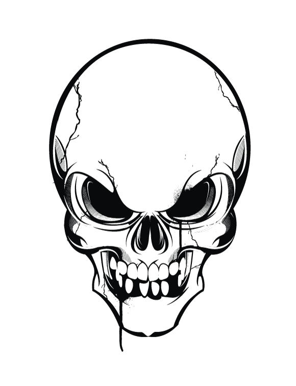17 black and white skull designs . Free cliparts that you can download ...