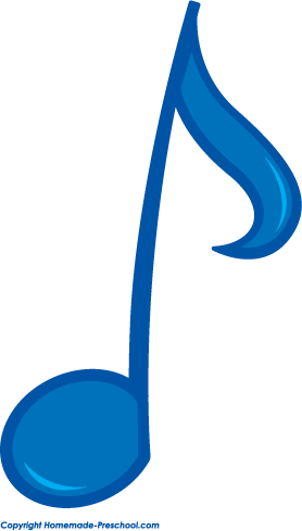 blue music notes clipart best
