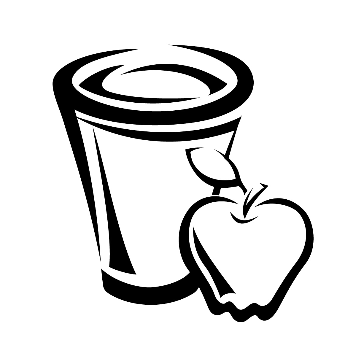 Apple Cider Coloring Pages : Apple juice clip art clipart best