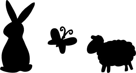 clipart image bunny silhouette - photo #50