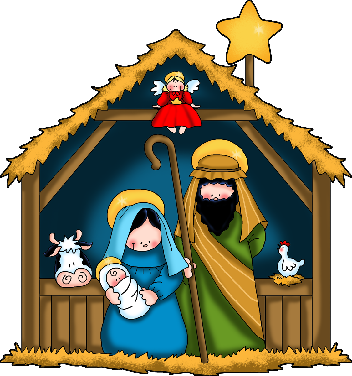 Nativity Scene Clipart | New Calendar Template Site