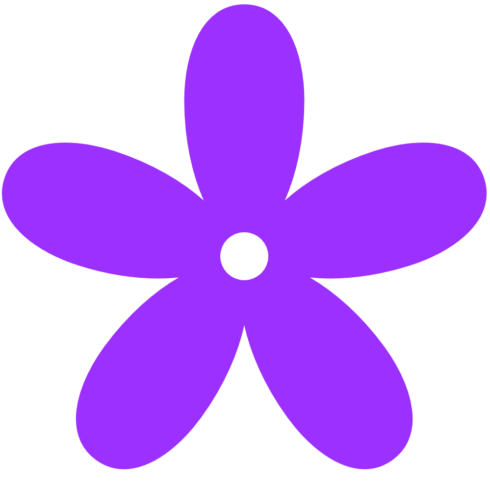 Purple Flowers Clip Art - ClipArt Best