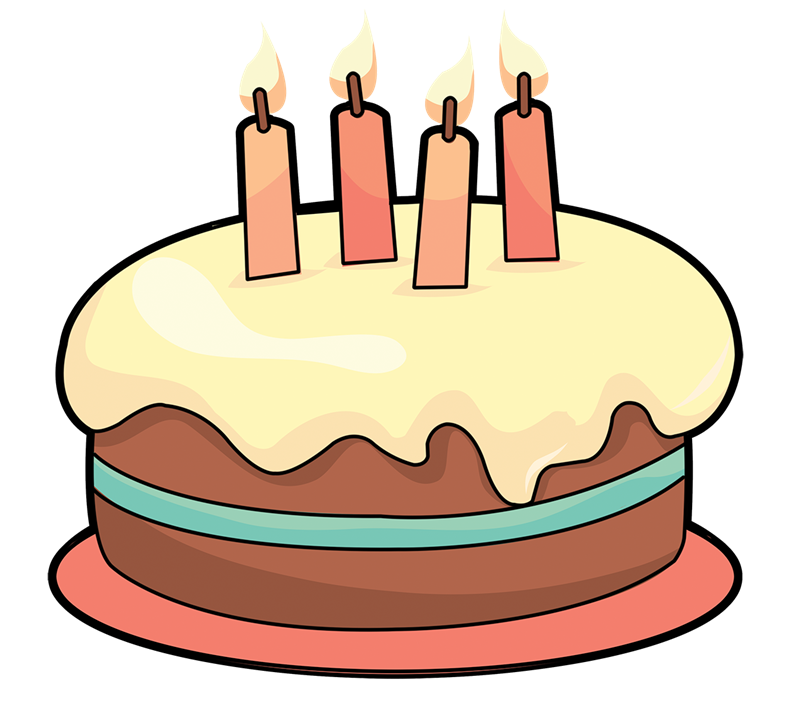 Free Cartoon Birthday Cake Clip Art