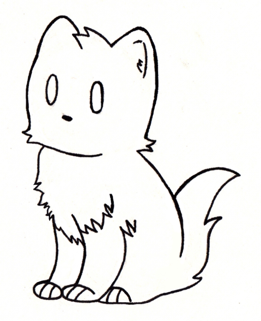Simple Cat Drawing - ClipArt Best