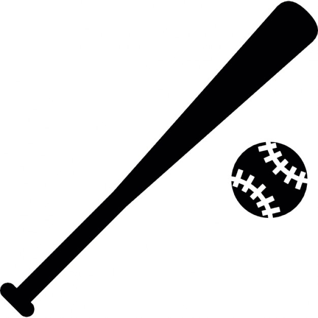 baseball bat silhouette clipart best Crossed Bats Vector crossed bats clip art