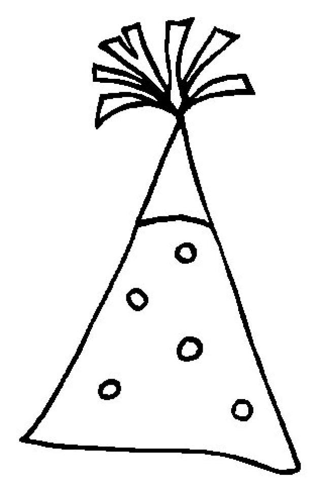 Best Photos Of Party Hat Blank Coloring Sheet Birthday Party Clipart Best Clipart Best