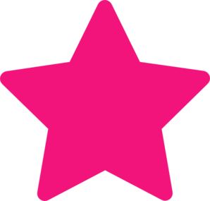 Light pink stars clipart on transparent background