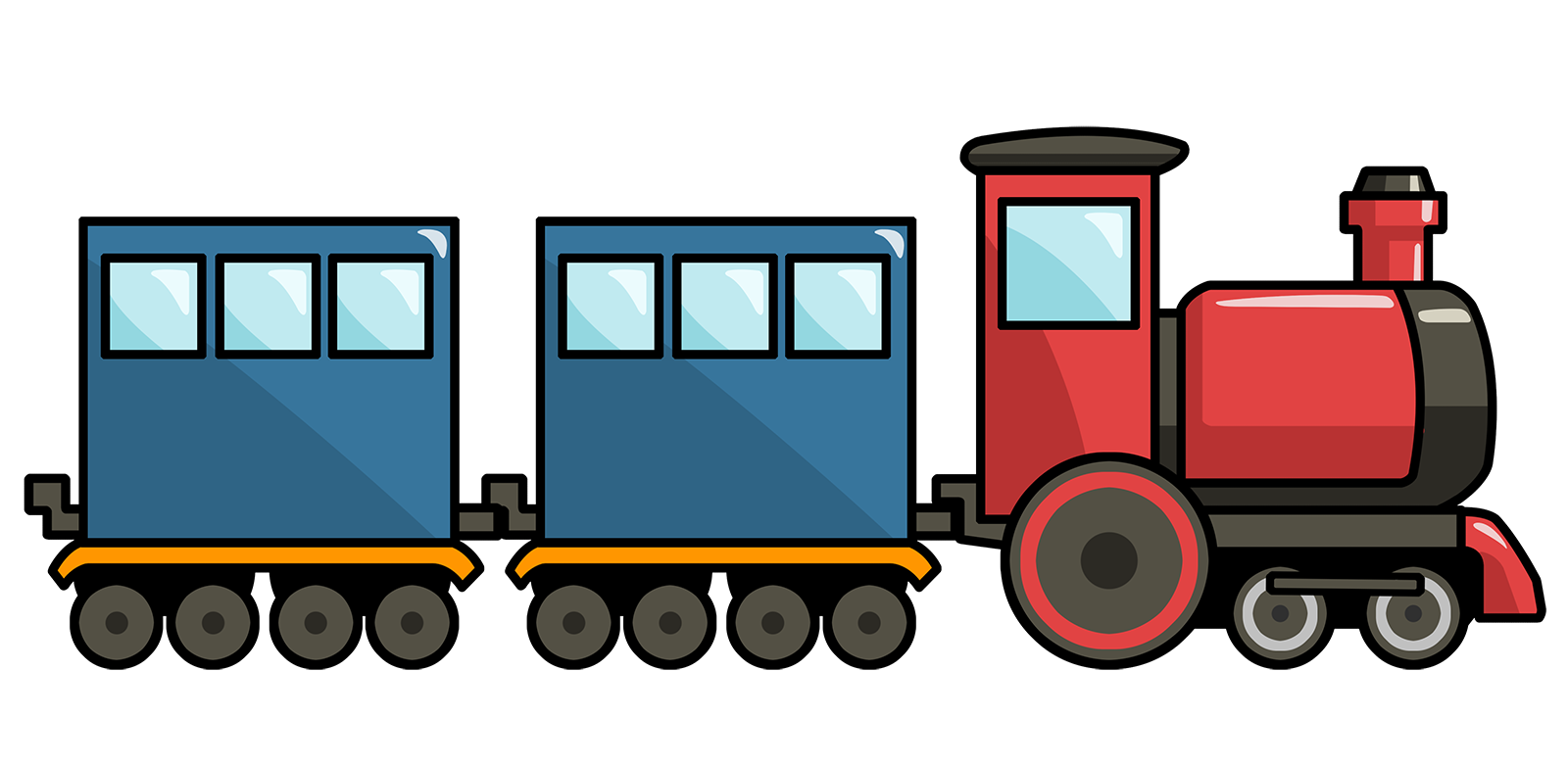 Clipart Train - Tumundografico