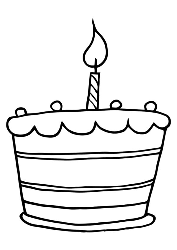 Birthday Cake Colouring In Pages
